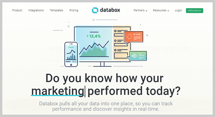 Databox Subscription Analytics Tool
