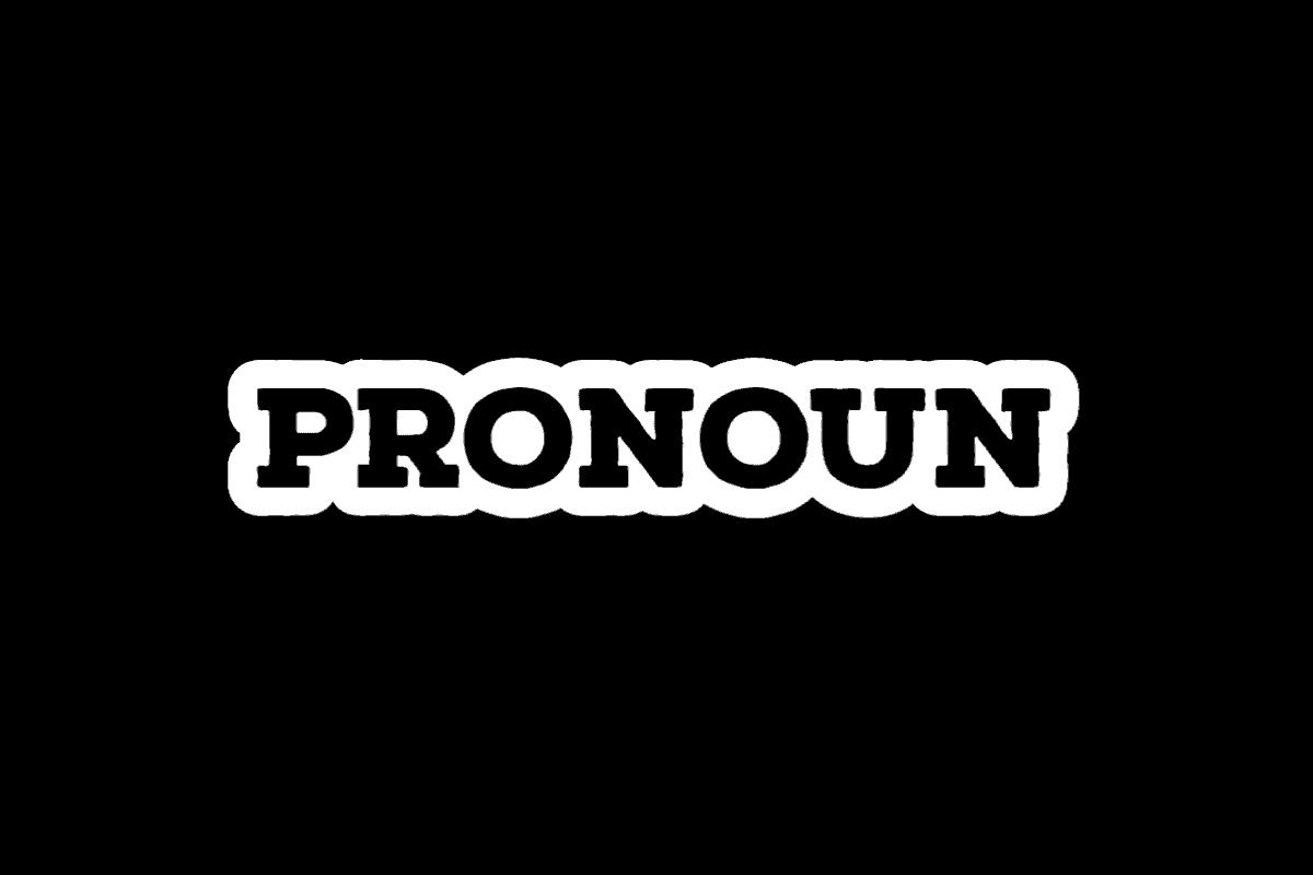 pronoun feature tile