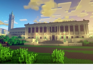 Doe library as seen in Minecraft