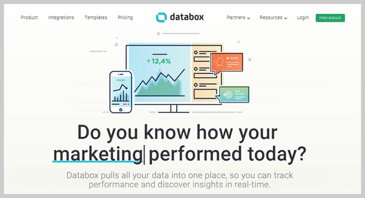 Databox Subscription Analytics Tool