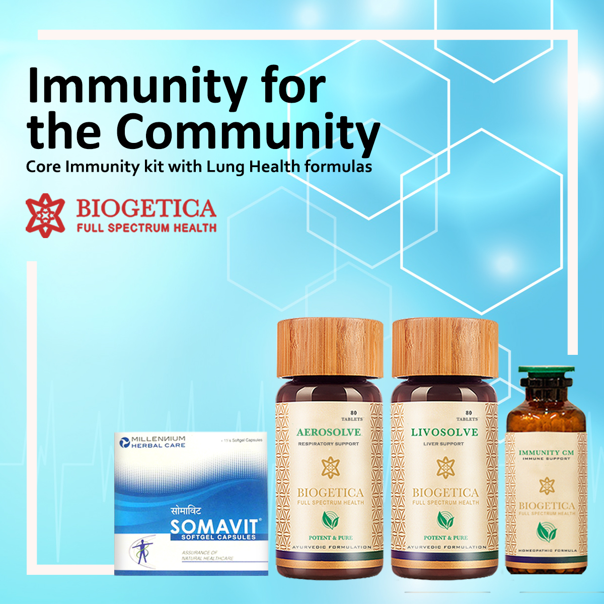 biogetica core immunity boost kit with lung health formula