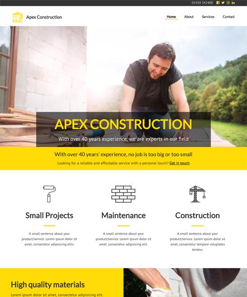 Construction InstantSite template