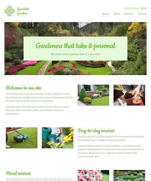 Green Fingers InstantSite template