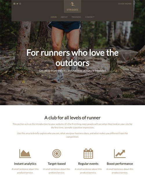 Running Club InstantSite template