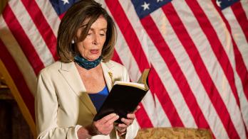 Nancy Pelosi wields Bible, quotes Bush, Obama in response to Trump
