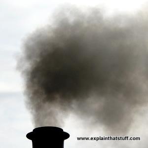 Smokestack black smoke air pollution