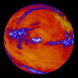 Warming earth image from NASA