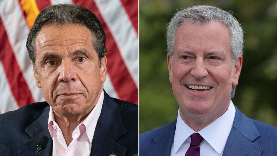 NYPD union says feud between Cuomo, de Blasio 'putting police officers in danger'