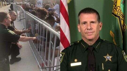 Florida Sheriff John Mina discusses taking a knee with demonstrators