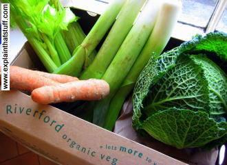 Organic vegetable box